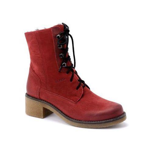 Trzewiki Lesta 6525 czerwony, kolor czerwony