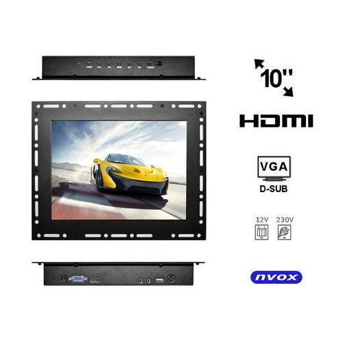 "op1000vh monitor open frame lcd 10"" cali led vga hdmi 12v 230v marki Nvox"