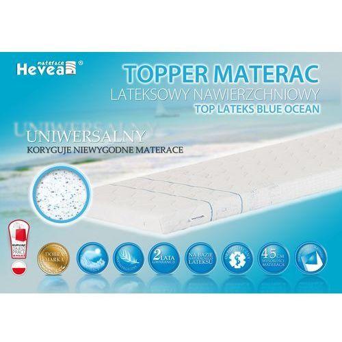 Materac nawierzchniowy topper lateksowy + poduszka 45/45 gratis! marki Hevea