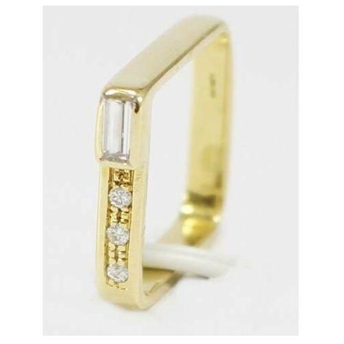 Złoty pierścionek z brylantami P542, kolor żółty