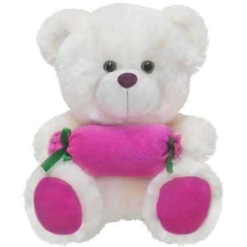 Beppe Miś z cukierkiem różowy