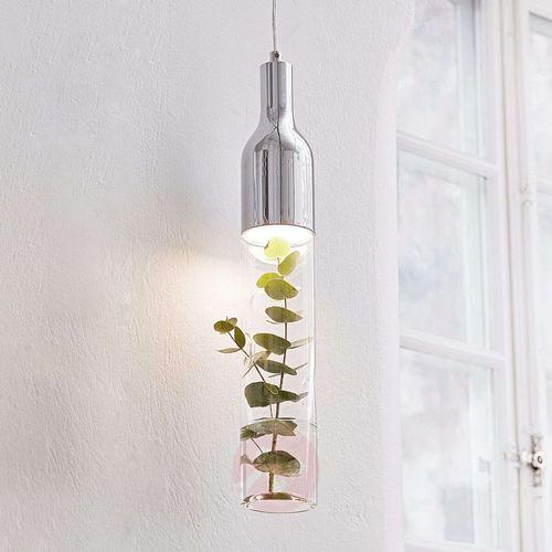 Markslojd Lampa wisząca bottle chrome/pendant clear 106903 - - mega rabat w koszyku