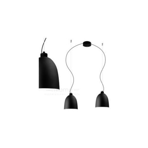 Sotto luce Lampa wisząca awa 2/s/black matte/opal szklana oprawa zwieszana czarna matowa