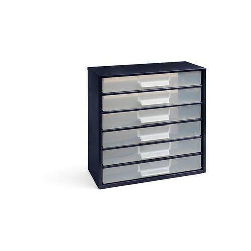 Magazyn z szufladami, wys. x szer. x głęb. 387x366x173 mm, 6 szuflad polipropyle