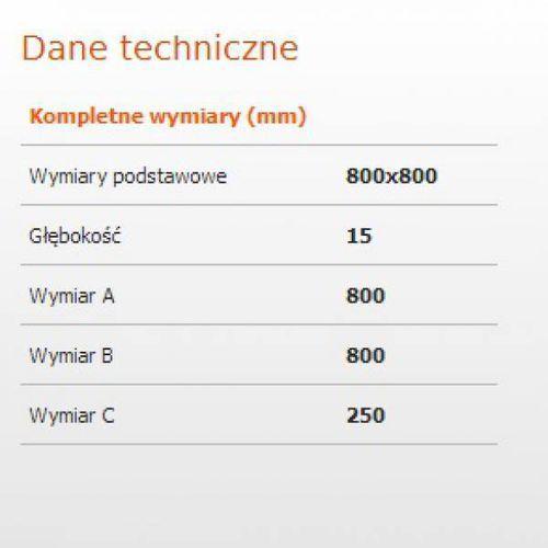Sanplast Brodzik bp-m/space 80x80x1,5 biew (5907805241544)