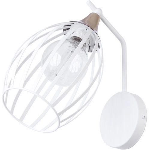 Sigma grappa 31819 kinkiet lampa ścienna 1x60w e27 biały / złoty