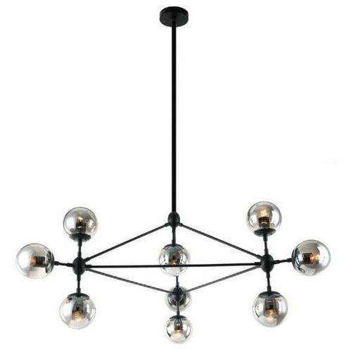 LAMPA wisząca BAO NERO FUME Orlicki Design industrialna OPRAWA metalowa ZWIS szklane kule balls loft przydymione, BAO NERO FUME