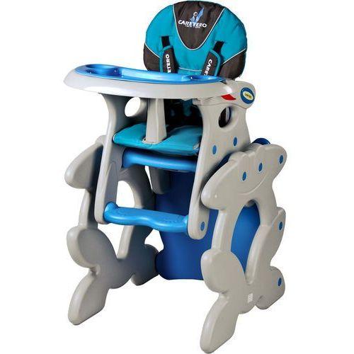 Caretero Krzesło do karmienia  ze stoliczkiem primus niebieski + darmowy transport! (5902021521104)