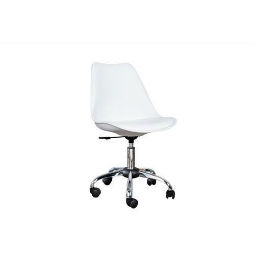 Krzesło na kółkach astoria white - biały marki Interior space