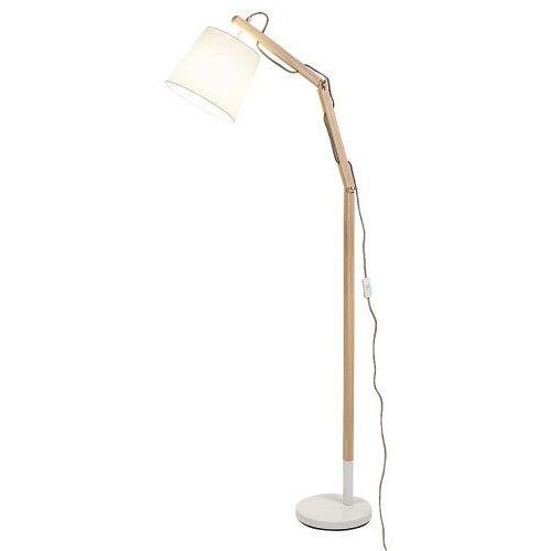Lampa stojaca podłogowa Rabalux Thomas 1x60W E27 biały/buk 4192 (5998250341927)