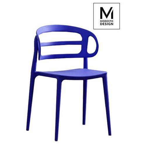 Krzesło MODESTO MARCUS ciemnoniebieskie - Ciemnoniebieski (5900000049960)
