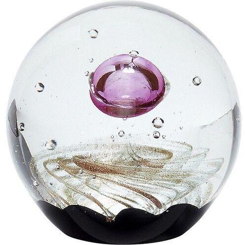 Przycisk do papieru hübsch kula 9 cm czarno-różowy