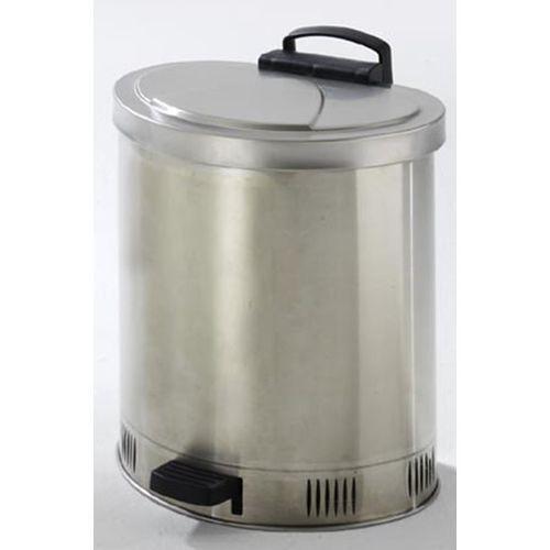 Bezpieczny pojemnik na odpady, samoczynnie zamykana pokrywa, ze stali szlachetne