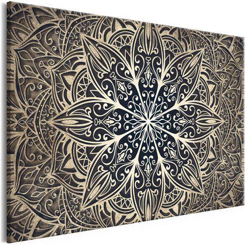 Obraz - kwiaty orientu (1-częściowy) szeroki brązowy marki Artgeist