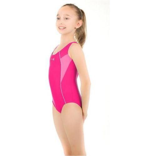 Kostium kąpielowy dziecięcy AQUA-SPEED Kate (Kolor: Niebiesko-Limonkowy, Rozmiar: 128 cm) (5908217624291)