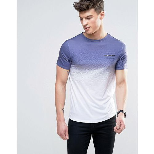 River island  muscle fit t-shirt with brooklyn geo faded print in white - white