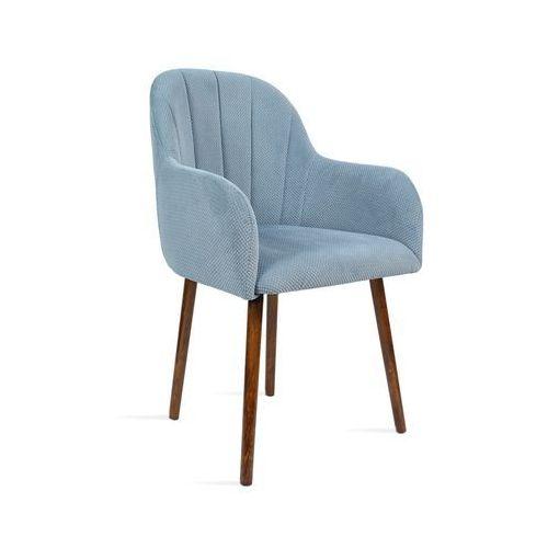 Krzesło BESSO niebieski/ noga orzech/ LU2782, 28 dni roboczych