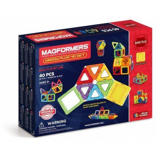 Klocki magnetyczne Magformers Window Plus 40 sztuk