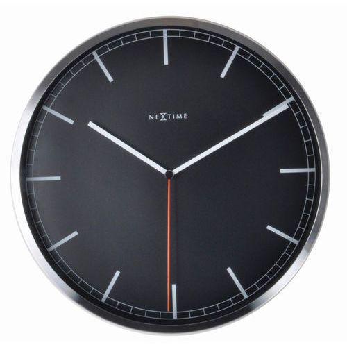 NeXtime - zegar ścienny Company 35 cm - czarny, kolor czarny