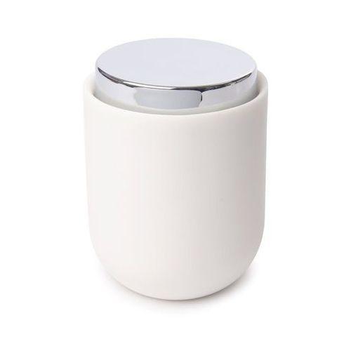 Umbra - Pojemnik łazienkowy Junip z pokrywką - biały
