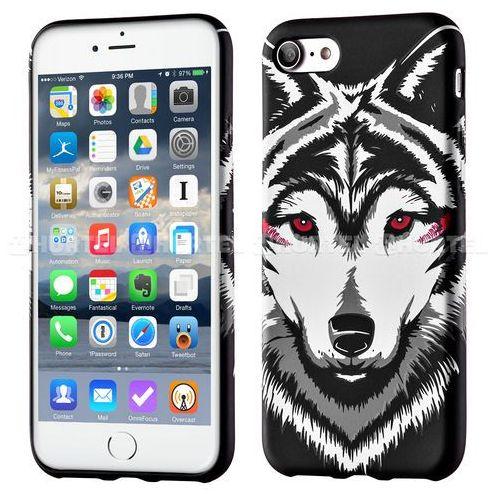 WOZINSKY fluorescencyjny pokrowiec świecący w ciemności Wild Case iPhone 7 śnieżny wilk czarny - śnieżny wilk z kategorii Futerały i pokrowce do telefonów