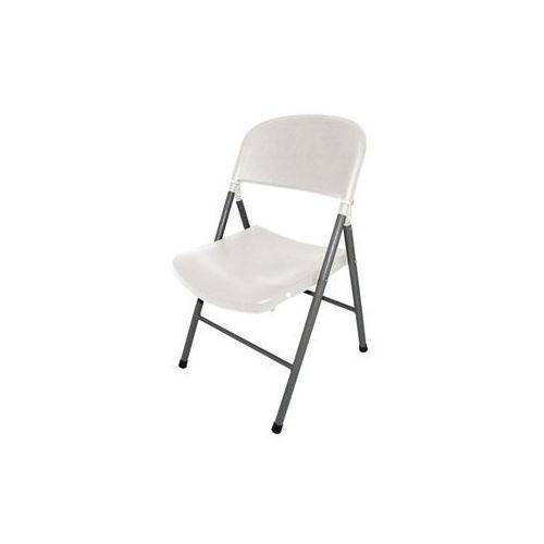 Krzesło składane | białe lub czarne | 490x500x(H)810mm | 2szt.