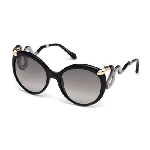 Okulary Słoneczne Roberto Cavalli RC 1037 CASTELLINA 01B, kolor żółty
