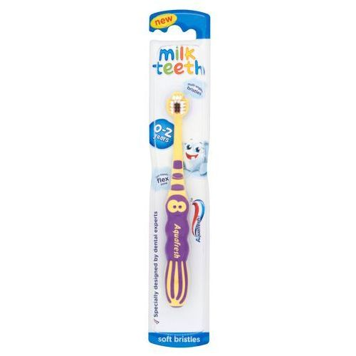 Aquafresh Szczoteczka Milk Teeth dla dzieci 0-2 lat 1szt (3830029295166)