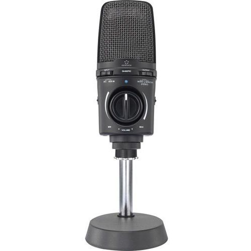 Mikrofon studyjny USB Renkforce EM-860PRO, Komunikacja: Przewodowa z kablem, z klipsem, metalowa obudowa, kup u jednego z partnerów