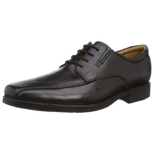 Clarks tyldy Walk półbuty męskie sznurowane Derby - czarny - 42.5 EU, Tilden Walk-Black Leather