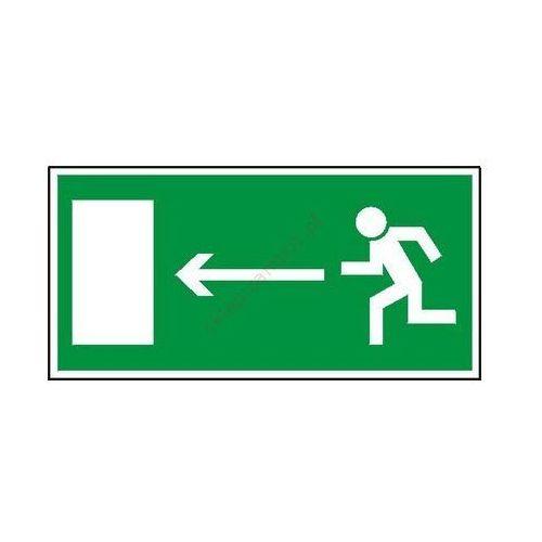 Znak kierunek do wyjścia drogi ewakuacyjnej (w lewo) marki Techem