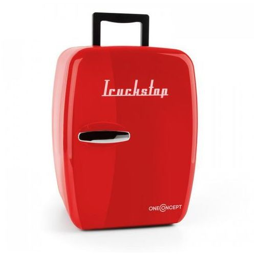 Oneconcept truckstop mini lodówka chłodzenie/grzanie 14 l czerwona adapter 12v (4260457488967)