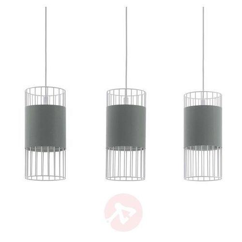 Lampa wisząca Eglo Norumbega 97955 sufitowa 3x60W E27 szara
