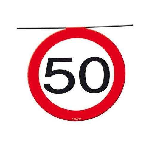 Baner flagi znak zakazu 50tka - 12 m - 1 szt. marki Folat