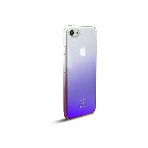 Etui Baseus Glaze Apple iPhone 7/8 ombre aurora Black + Szkło, kolor czarny