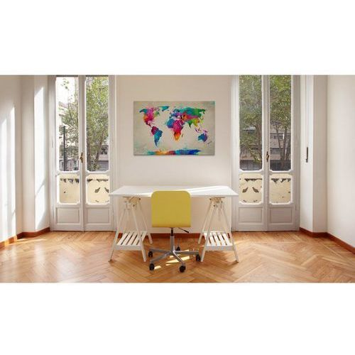 Not specified Obraz - Map of the world an explosion colors (5902130757708)
