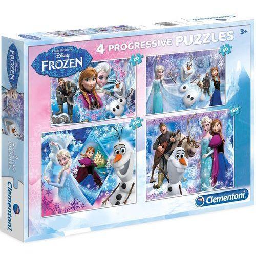 Frozen puzzle 4w1 20 + 60 + 100 +180 el. elsa olaf anna marki Clementoni