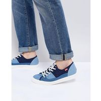 malibu patch denim lace up plimsoll - blue, Levis