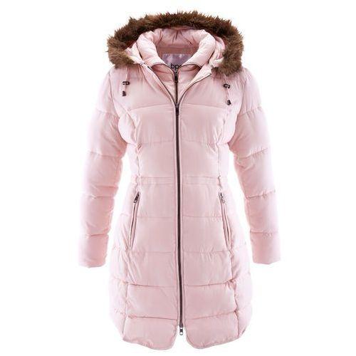 Krótki płaszcz z kapturem bonprix pastelowy jasnoróżowy, w 2 rozmiarach