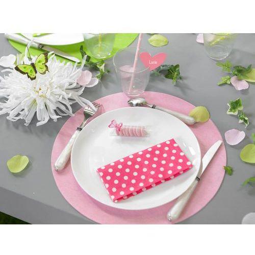 Oms Podkładki sweet pink pod ciasto/talerze - przyjęcia dziewczynki - okazja! 34cm 10szt (3016600086778)