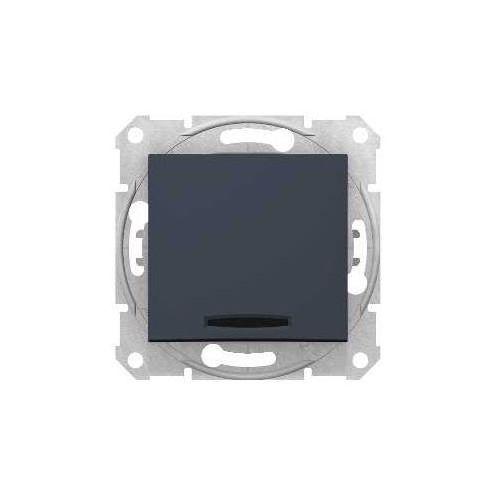 Przycisk schodowy Schneider Sedna SDN1520170 łącznik z podświetleniem grafit, SDN1520170