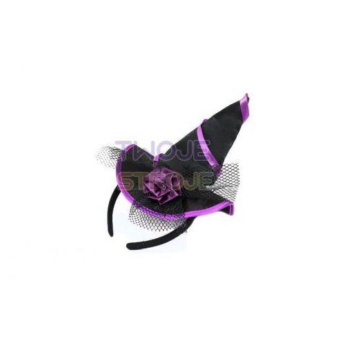 Twojestroje.pl Opaska z kapeluszem różyczką czarna (5902135833155)