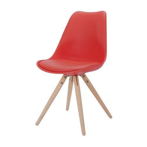 Krzesło clara czerwone, naturalne, tworzywo sztuczne 22165-3 marki Interstil