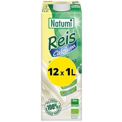Natumi  - bezmleczny napój mleko ryżowe z wapniem 12x1l zestaw eko (6.79zł za 1l)