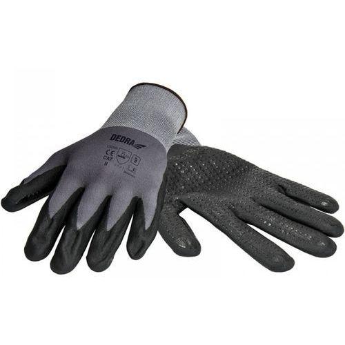 Rękawice robocze DEDRA BH1006R10 Czarno-szary (rozmiar XL)