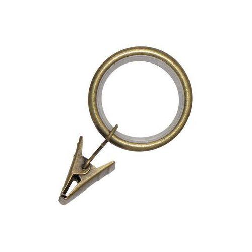 Kółka z żabkami antyczne złoto 16/19 mm 10 szt. INSPIRE