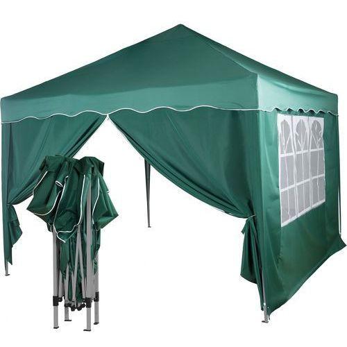 Instent ® Ekspresowy zielony pawilon namiot ogrodowy 3x3m + 2 ścianki - zielony