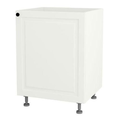 Szafka kuchenna dolna zlewozmywakowa 1-drzwiowa Luiza DZ-60/1 biały matowy, LBDZ-60/1