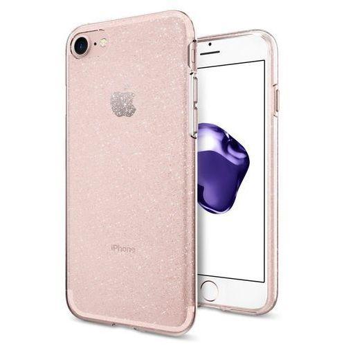Spigen Liquid Crystal Glitter żelowe etui z brokatem iPhone 8 / 7 różowy (Glitter Rose Quartz), kolor różowy