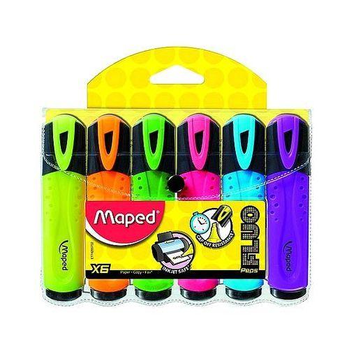 Maped Zakreślacze fluo peps 6 kolorów 742557